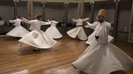 isztambul : Whirling Dervish Demonstration Dancers Final Act