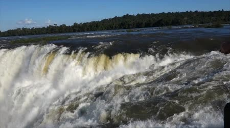 brezilya : Garganta del Diablo Iguazu Falls Power Stok Video