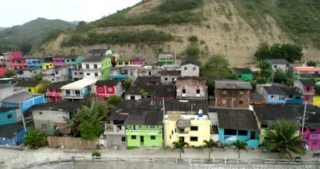 barışçı : La Entrada, Ecuador - 20180914 - Drone Aerial  -  Pan of Village Showing Newly Painted Homes