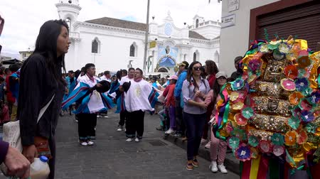 equador : Latacunga, Ecuador  -  20180925  -  Sorcerers Cleans Woman of Evil Spirits in Mama Negra Parade