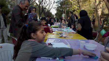 szervez : Tehran, Iran - 2019-04-03 - Street Fair Entertainment 11 - Children Craft Table 3.