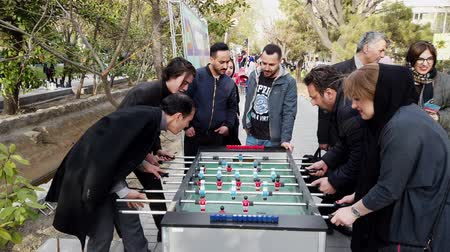 futball labda : Tehran, Iran - 2019-04-03 - Street Fair Entertainment 16 - Foosball 2 - Adults Long Point.