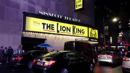cartelloni : New York City, New York - 2019-05-08 - Broadway 3 Lion King Theatre Marquee.