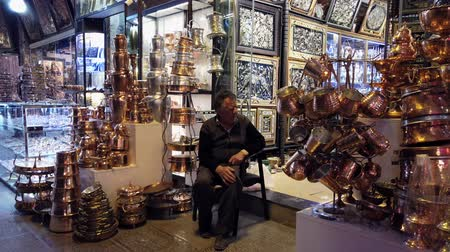 panelas : Isfahan, Iran - 2019-04-12 - Panning Over Huge Inventory of Copper and Brass Items of Store.