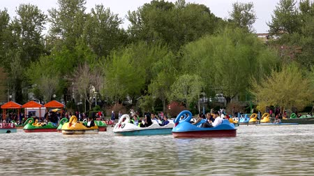 zwaan : Isfahan, Iran - 2019-04-12 - Couples Play in Goose Paddle Boats Just Above the Si-o-se-pol Dam.