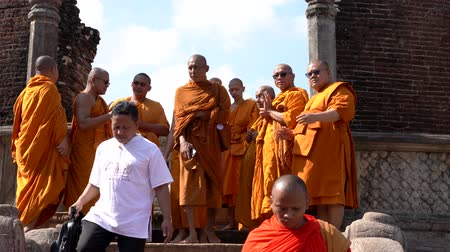 mantra : Polonnaruwa, Sri Lanka - 2019-03-23 - Monks On Tour 10 - Walking Down Steps.