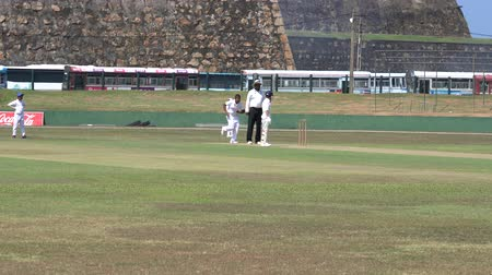 wicket : Galle, Sri Lanka - 2019-04-01 - Teenage Cricket Practice - Batter Swings and Misses.