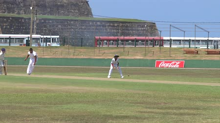 wicket : Galle, Sri Lanka - 2019-04-01 - Teenage Cricket Practice - Batter Hits and Play Ensues.