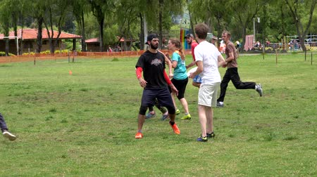 crouch : Cuenca, Ecuador - 2019-02-10 - Pickup Extreme Frisbee in Park - Missed Goal.