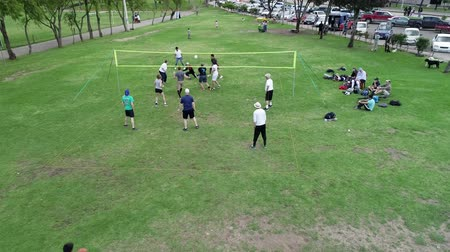 служить : Cuenca, Ecuador - 2019-02-10 - Park Pickup Volleyball - Aerial Show Surroundings.