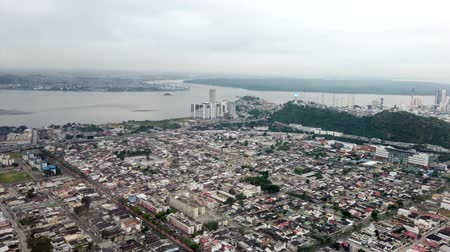 olhar : Guayaquil, Ecuador - 2019-06-26 - Airplane Window View - taking off from Guayaquil airport.