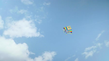 risonho : Colorful kite flying against the blue sky