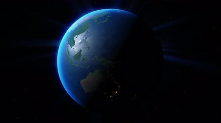 View of the planet Earth. Stock Footage