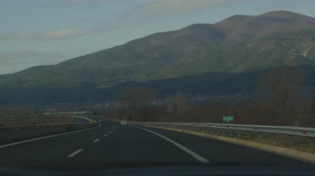autobahn : view from a driving car highway road beautiful mountain in Greece