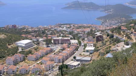haziran : Panoramic view of popular resort city Kas in Turkey from high point
