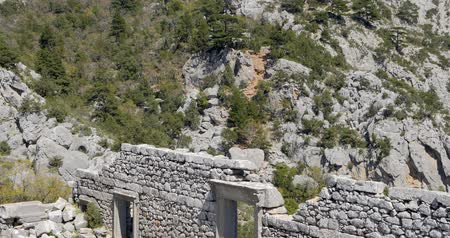 以上 : Amphitheater in Pisidian city Thermessos built at an altitude of more than 1000 metres near Antalya in Turkey. 動画素材