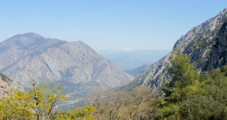 antalya : Taurus Mountains spring time in Thermessos, near Antalya in Turkey Stock Footage