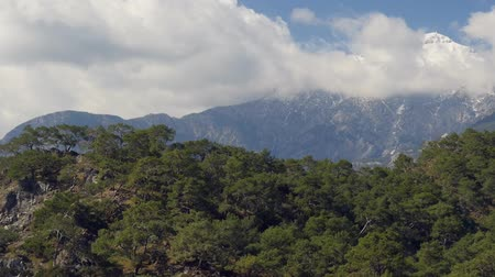 tauro : Winter mountain Tahtali picturesque view from Phaselis, Kemer, Turkey