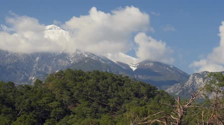 anatolia : Winter mountain Tahtali picturesque view from Phaselis, Kemer, Turkey