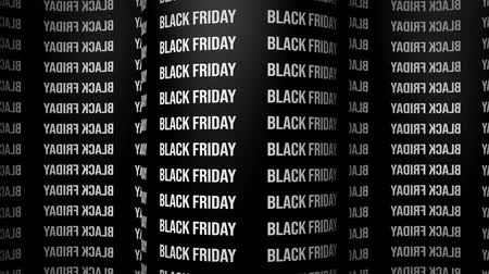 cercar : Black friday surround background. Animated 3d banner ad. Looping animated wallpaper on a black background with repeating words black friday