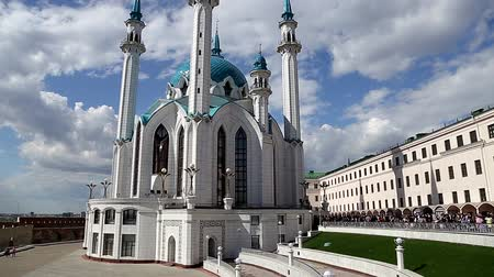kul : Mosque of Kul-Sharif and the Kremlin Stock Footage