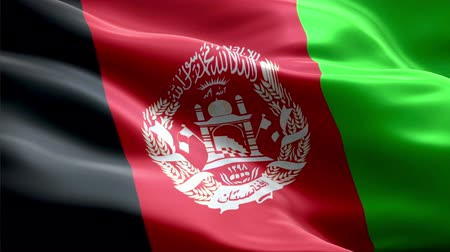 Afghanistan waving 3D flag Wideo