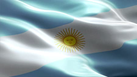 Argentina waving 3D flag Wideo