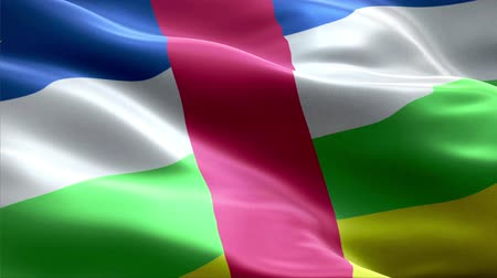 Central African Republic waving 3D flag