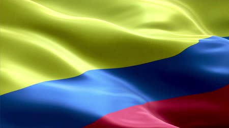 Colombia waving 3D flag