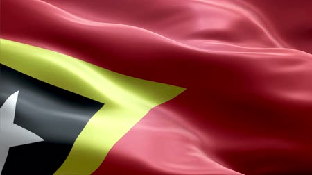 East Timor waving 3D flag Wideo