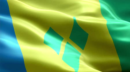 Saint Vincent and the Grenadines waving 3D flag