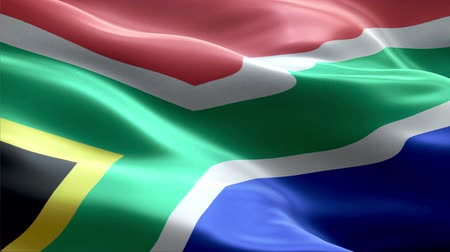 South Africa waving 3D flag