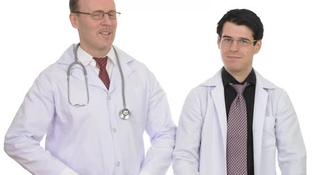 crossed : Portrait of two man doctor with arms crossed