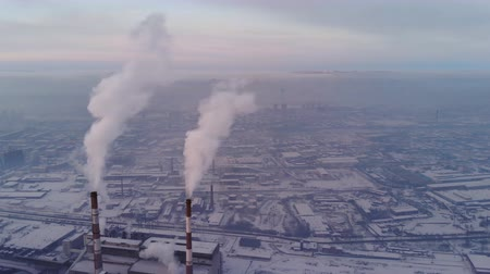 диоксид : Air pollution in an industrial city.