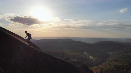 overcome : Scarring on the ridge at sunset