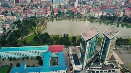 Batumi drone footage on Hilton and lake in the park Dostupné videozáznamy