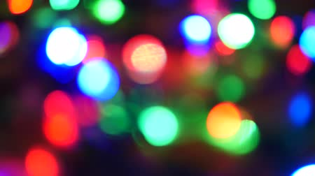 Blurry Led Light Garland Background, Christmas Background Bokeh Light Dostupné videozáznamy