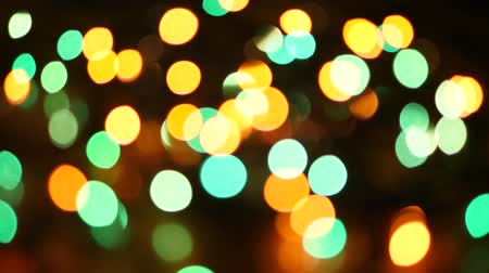 Illuminated Blurred Led Light Background, Blurry Garland Background