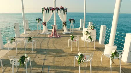 Wedding ceremony and wedding at sea