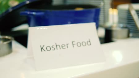 Kosher food label, kosher food sign close up