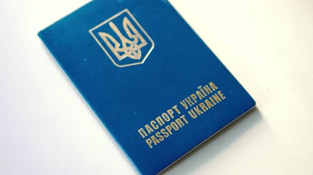 Ukrainian passport on a white background Dostupné videozáznamy