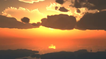 setting : sky cloud with sunset background Stock Footage