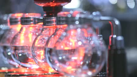 showcase : Footage syphon Coffee or Vacuum Coffee is full immersion tasteful and Barista mix coffee and hot water in vacuum glass chambers by Beam heater.
