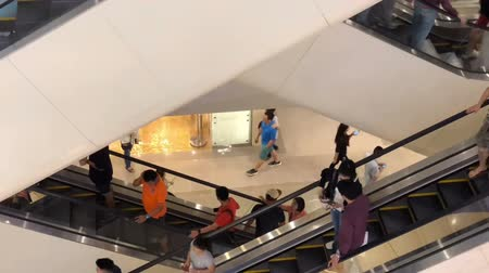 consumo : Time lapse of escalator moving.