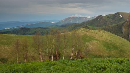floresta : Russia, time lapse. The formation and movement of clouds over the summer slopes of Adygea Bolshoy Thach and the Caucasus Mountains