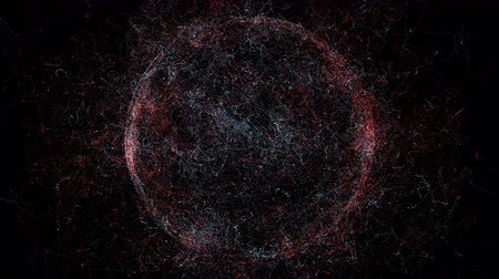 földrajz : Abstract circle motion background, earth shining lights, energy waves and sparkling fireworks style particles, zoom
