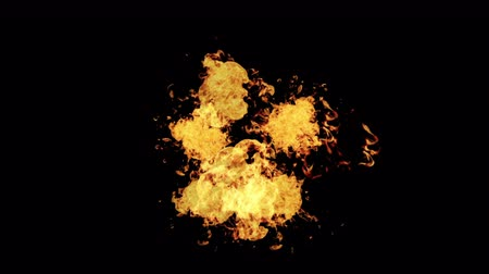 estouro : Fireball Explosion Realistic and blasts with Alpha Channel. 4K VFX Element. Vídeos