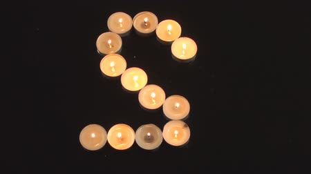 família : Letter S Made Out Of Candles