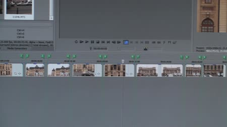 timeline : Video Editing Software Timeline Pan-Shot Stock Footage