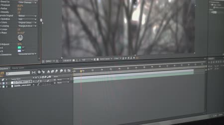 видео : Video Effects Software Color Correction Material